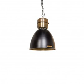 Industrial pendant lamp Voltera 32 cm Shine Black / Brass LOFTLIGHT - black gloss / brass