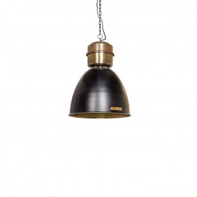 Industrialna lampa wisząca Voltera 32 cm Shine Black / Brass LOFTLIGHT – czarny połysk / mosiądz