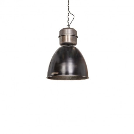 Industrial pendant lamp Voltera 32 cm Shine Black / Dark Nickel LOFTLIGHT - black gloss