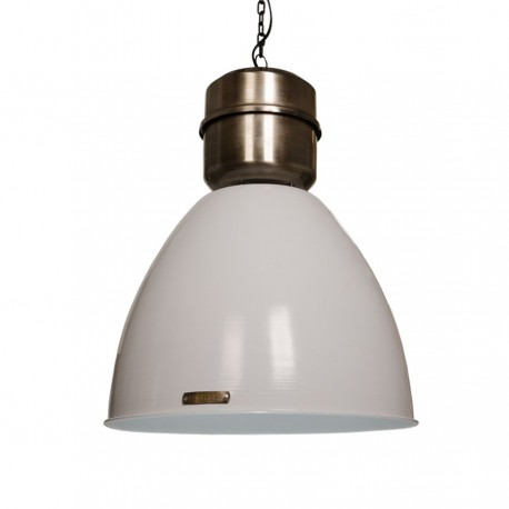 Industrial pendant lamp Voltera 46 cm - Shine White / Dark Nickel LOFTLIGHT - white