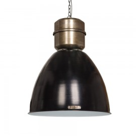 Industrialna lampa wisząca Voltera 46 cm Shine Black / Dark Nickel LOFTLIGHT