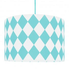 Turquoise Diamonds Lampshade Ø40cm