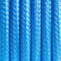 Round electric cable covered by polyester  05 Iranian turquoise 2x0.75