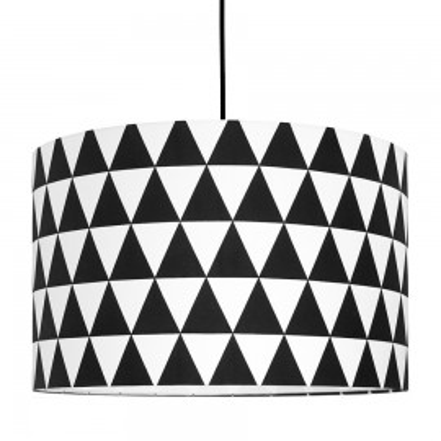 Abażur trójkąty czarne