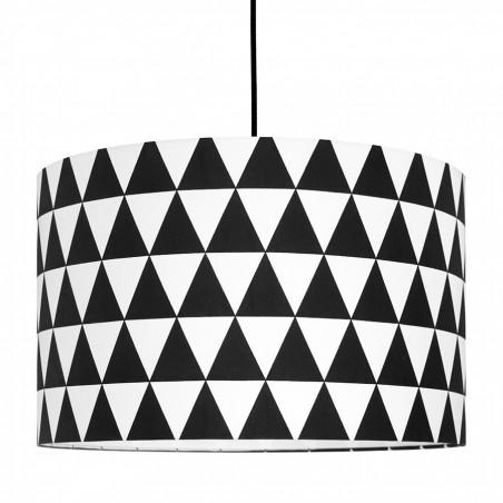 Abażur trójkąty czarne Ø40cm
