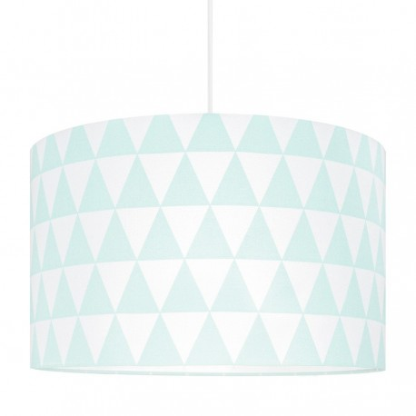 Mint Triangles Lampshade Ø40cm