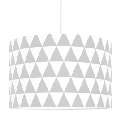 Abażur trójkąty szare
