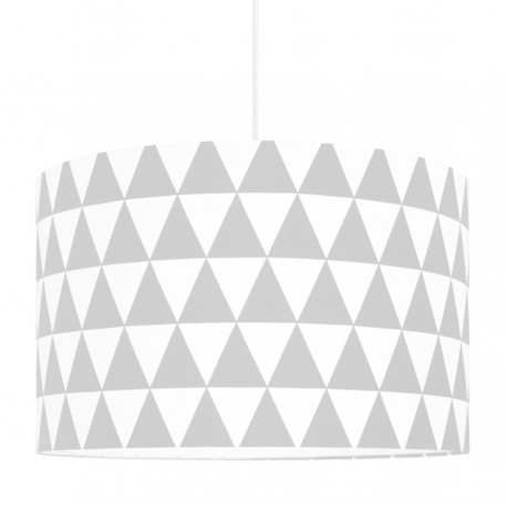 Grey Triangles Lampshade Ø40cm