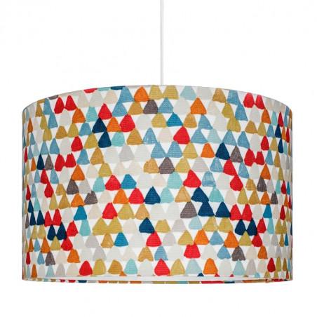 Abażur kolorowe trójkąciki Ø40cm