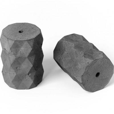 Oprawka betonowa typ A E27 Kolorowe Kable - naturalna
