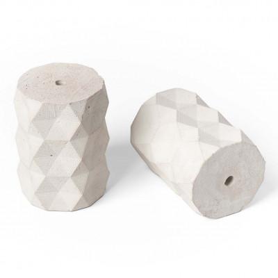 Oprawka betonowa typ A E27 Kolorowe Kable - bielona