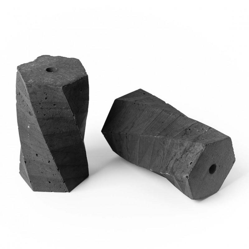 Oprawka betonowa typ B E27 Kolorowe Kable - antracytowa