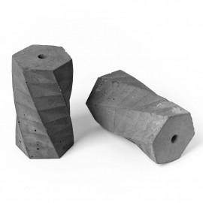 Oprawka betonowa typ B E27 Kolorowe Kable - naturalna
