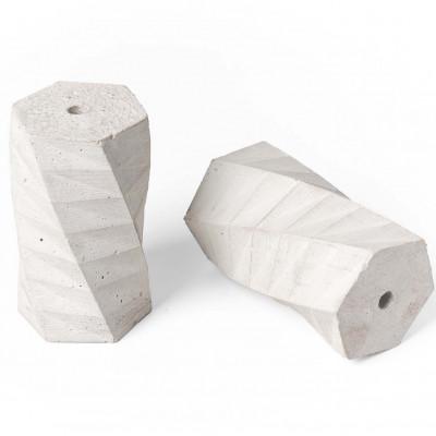 Oprawka betonowa typ B E27 Kolorowe Kable - bielona