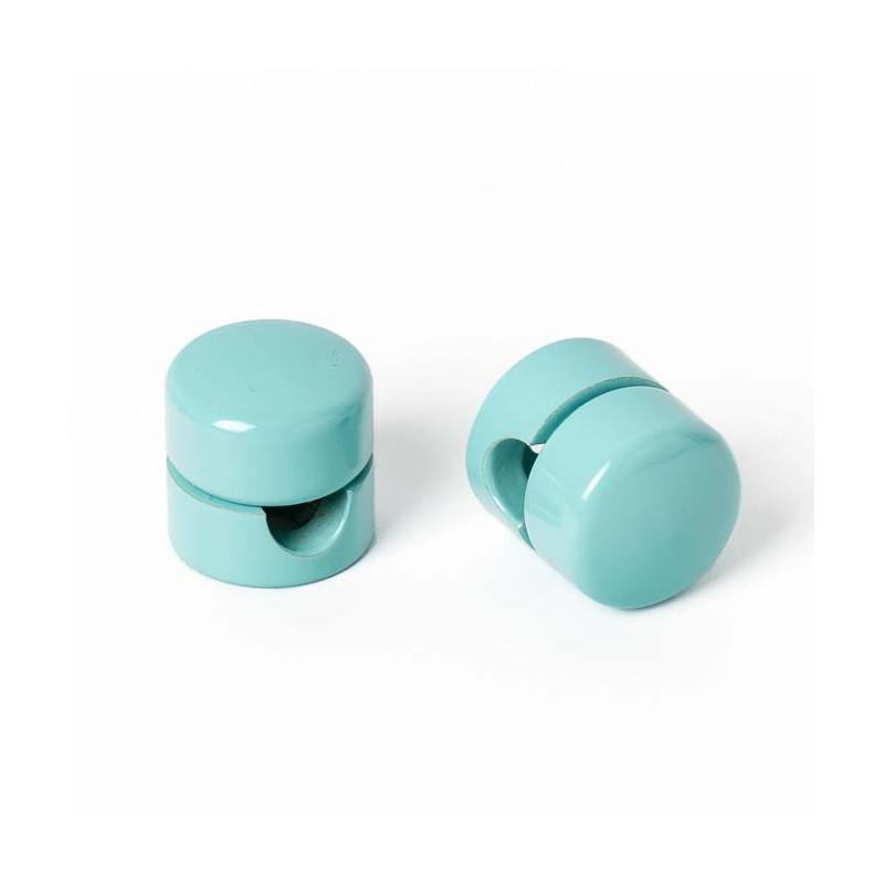 Uchwyt do kabla w kolorze jasnoniebieskim / miętowym Kolorowe Kable