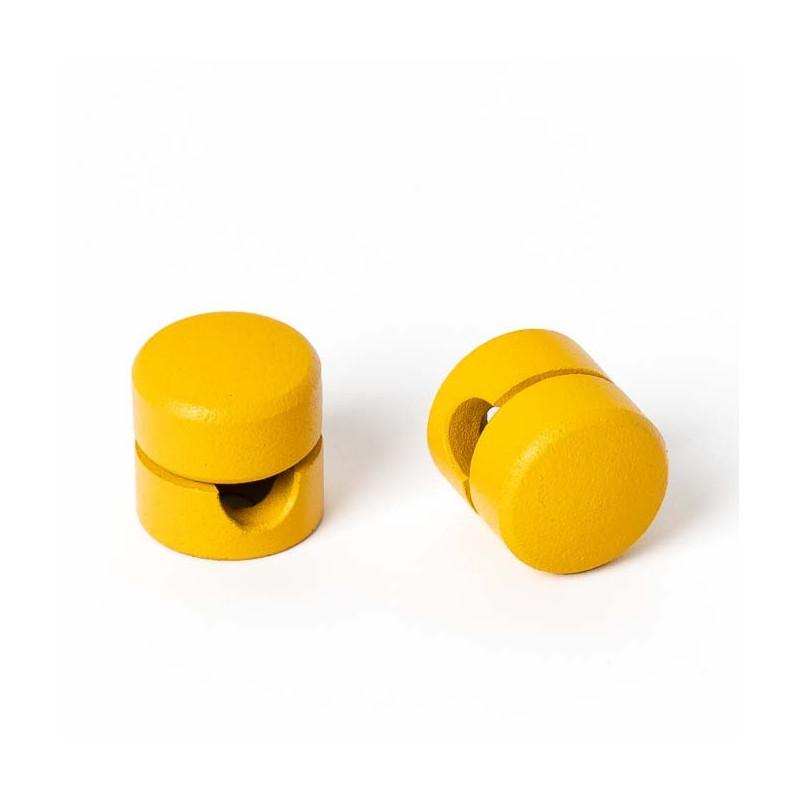 Uchwyt do kabla w kolorze żółtym strukturalnym Kolorowe Kable