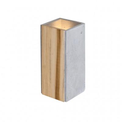 Betonowa lampa ścienna / kinkiet Orto Teak LOFTLIGHT z dodatkiem drewna teakowego