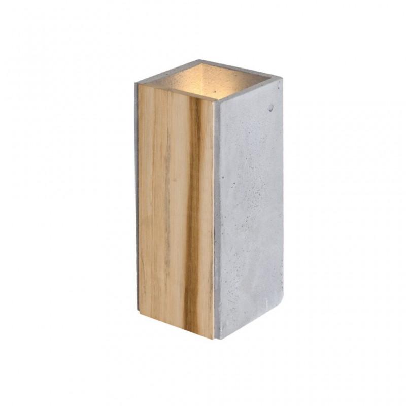 Concrete wall lamp / Orto Teak LOFTLIGHT wall light with the addition of teak wood