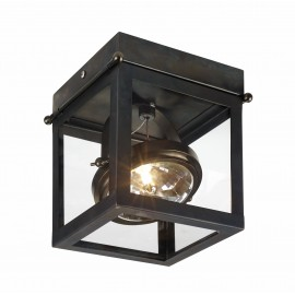 Geo 1 Framed Spotlight Ceiling Lamp Brown