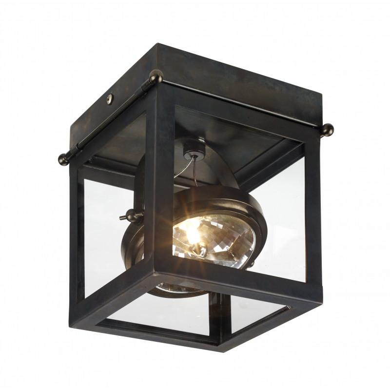 Geo 1 Framed Spotlight Ceiling Lamp Brown