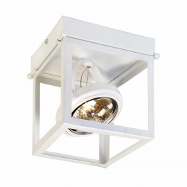 Geo 1 Framed Spotlight Ceiling Lamp White