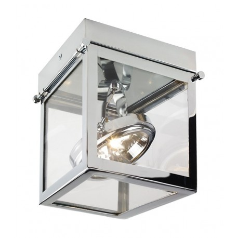 Geo 1 framed spotlight ceiling lamp chrome mozeypictures Gallery