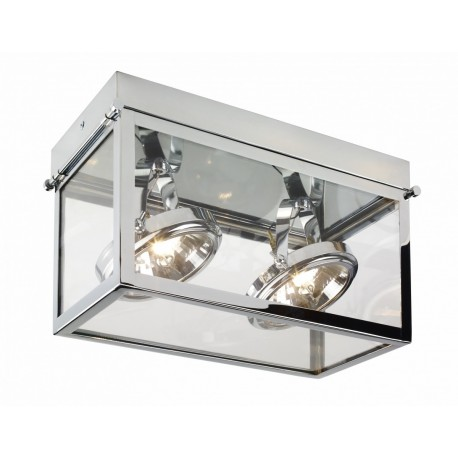 Geo 2 Framed Spotlight Ceiling Lamp Chrome