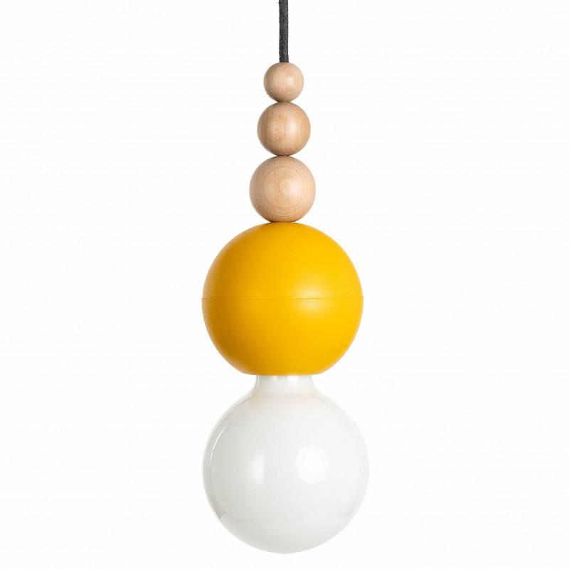Loft Bala żółta strukturalna lampa wisząca KOLOROWE KABLE
