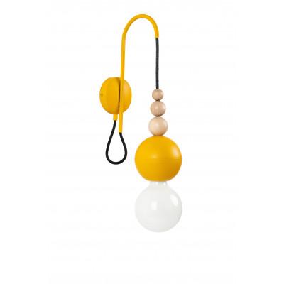 Loft Bala żółty kinkiet strukturalny KOLOROWE KABLE