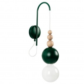 Loft Bala dark green structural wall lamp
