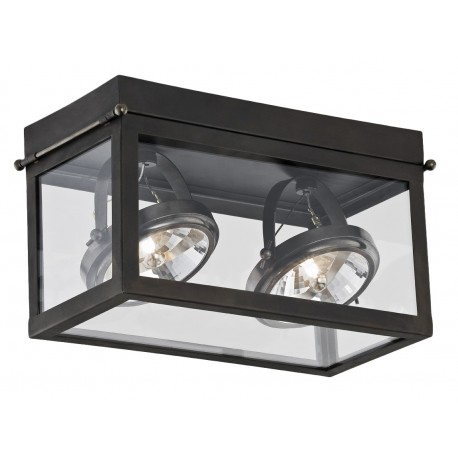 Geo 2 Framed Spotlight Ceiling Lamp Brown