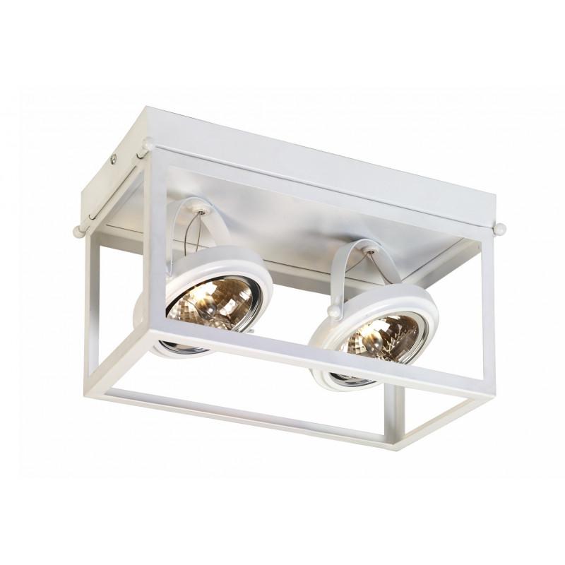 Geo 2 Framed Spotlight Ceiling Lamp White