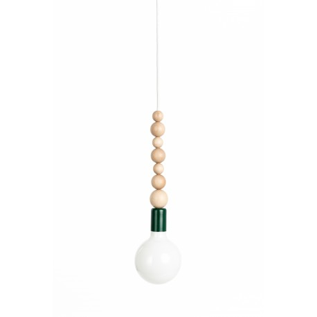 Loft Sfarer dark green structural pendant lamp