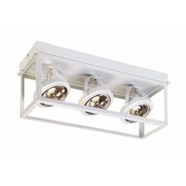Geo 3 Framed Spotlight Ceiling Lamp White