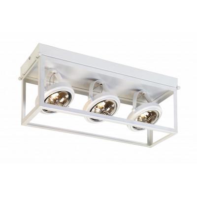 Geo 3 Framed Spotlight Ceiling Lamp White