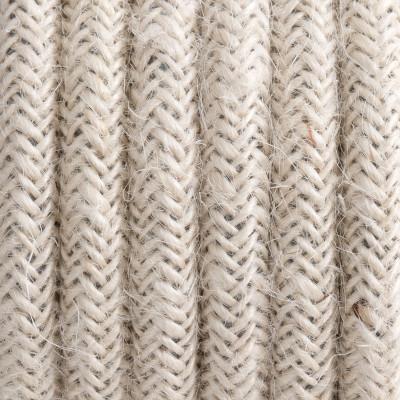 Kabel w oplocie z juty bielonej trzyżyłowy 3x1,5mm2 Kolorowe Kable