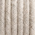 Round electric cable covered by bleached jute 3x1.5mm2 KOLOROWE KABLE
