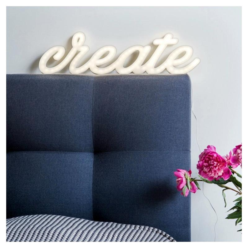 Illuminated lettering CREATE Ledon lamp Twórczywo