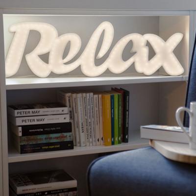 Illuminated lettering RELAX Ledon lamp Twórczywo