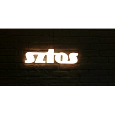Illuminated lettering SZTOS Ledon lamp Twórczywo