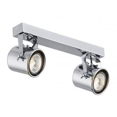 Podwójna chromowana lampa sufitowa ALTER 2 listwa reflektorków KASPA
