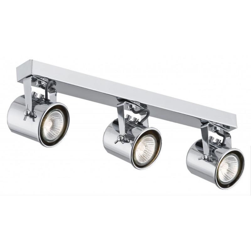 Potrójna chromowana lampa sufitowa ALTER 3 listwa reflektorków KASPA