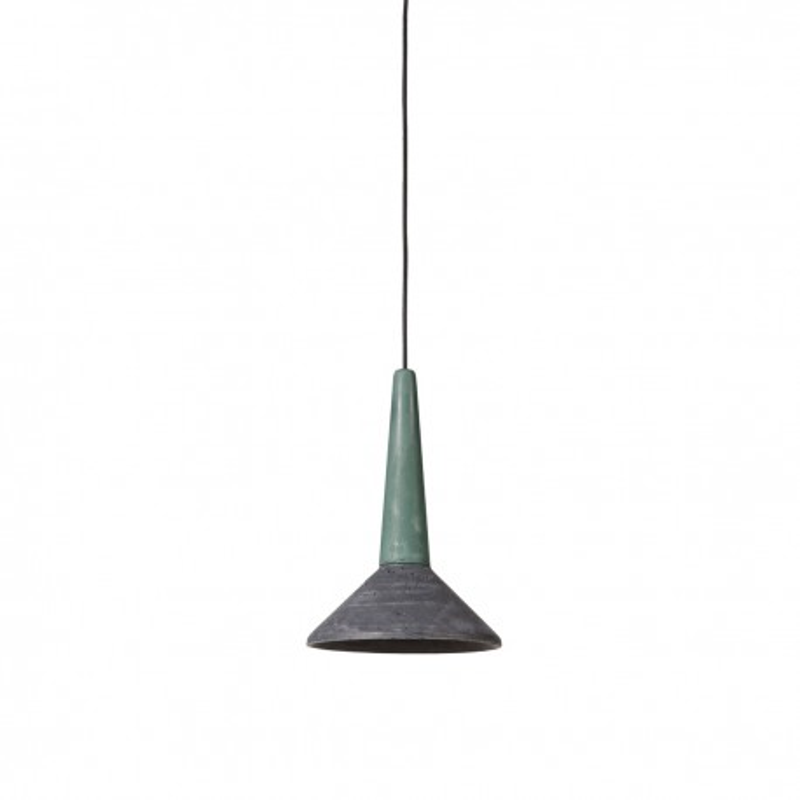 Concrete pendant lamp Medano green-anthracite LOFTLIGHT