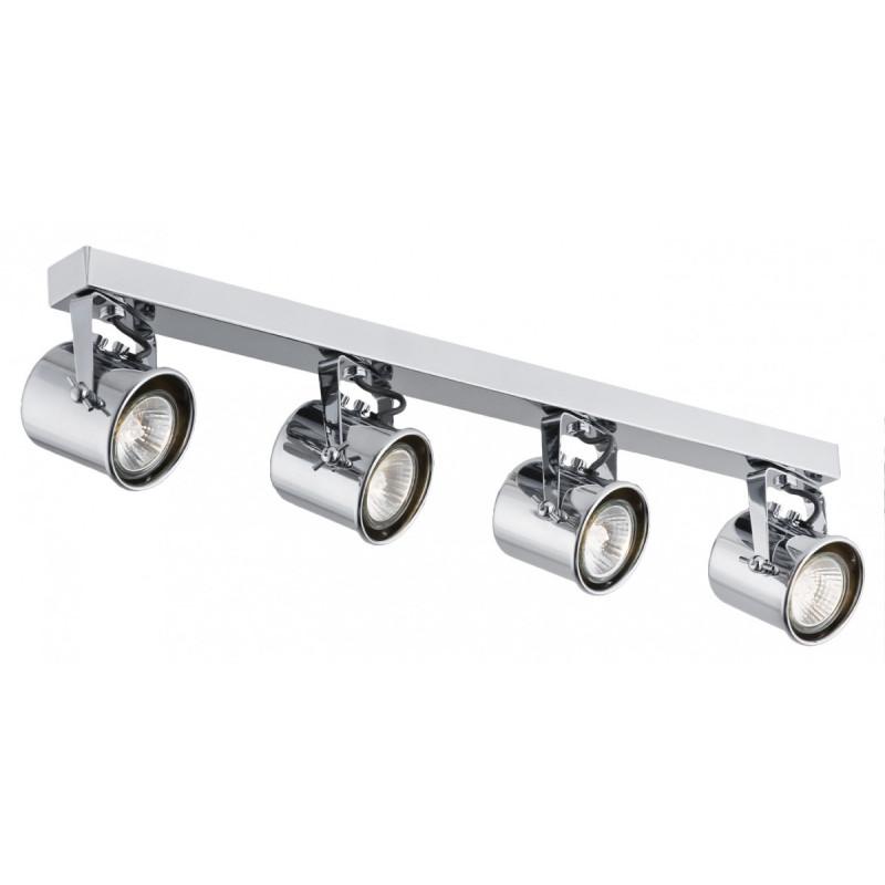 Poczwórna chromowana lampa sufitowa ALTER 4 listwa reflektorków KASPA