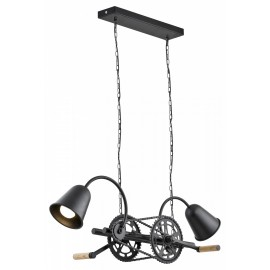Bike Pendant Lamp Black